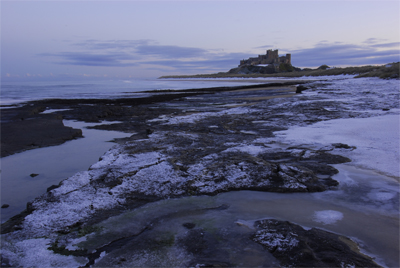 Bamburgh Castle in the snow 22/12/09