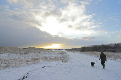 Druridge in the snow